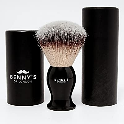 SHAVING BRUSH - Benny's of London - Luxury Shave Brush - Perfect for Home or Travel - Must Have Present for Mens Grooming Set by Benny's of London