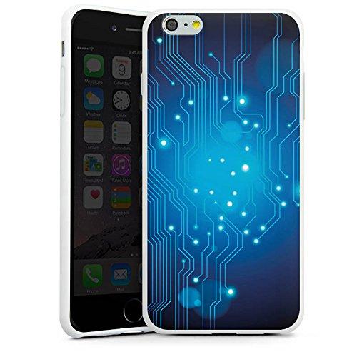 Apple iPhone X Silikon Hülle Case Schutzhülle Platine Digital Elektro Silikon Case weiß