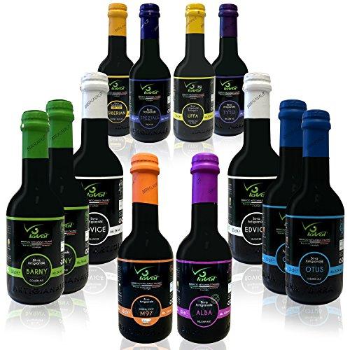 Birra Artigianale BIRRA LAVAL® - PROVALAVAL - 12 bottiglie da 0,33 lt. in confezione assortita.