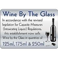 Wine by the Glass 140x Verlaufsfilter Schild preisvergleich bei billige-tabletten.eu