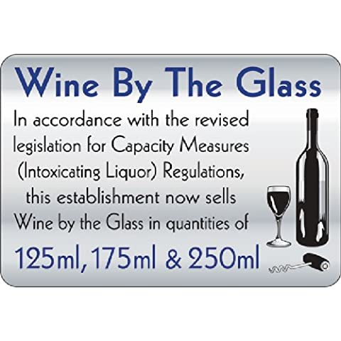 Wine By The Glass 140X200mm Sign
