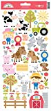 Doodlebug Cardstock Stickers-Down on The Farm Icons