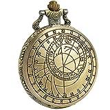 SIBOSUN Antiguo Hombres Reloj de bolsillo Con cadena Bronce Médico que Dr. quien Cadena + Caja