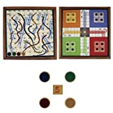 Snake Ladder And Ludo Magnetic Board Gam...