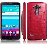 LG G4Funda, kinwei (TM) widsom Series Ultra slim Wallet Case–ligero, piel sintética y PC materiales, carcasa rígida para lgg4