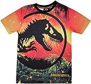 Popgear Jurassic World Logotipo de la Lava Camiseta de los Muchachos | mercancía Oficial
