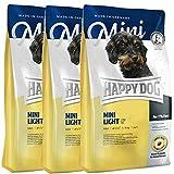Happy Dog 3 x 4 kg Supreme Mini Light Low Fat
