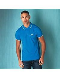Polo avec rappel UCLA pour homme en bleu