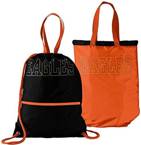Augusta Sportswear 167Reverb–Zaino da adulto Black/Orange