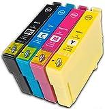 Prestige Cartridge T0611-T0614 Compatible Ink Cartridges for Epson Stylus D68, D88, D88 Plus, DX3800, DX3850, DX3850 Plus, DX4200, DX4250, DX4800, DX4850, DX4850 Plus - Black/Cyan/Magenta/Yellow (Pack of 4)