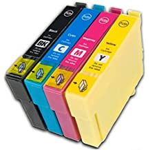 Prestige Cartridge T0711-T0714 (T0715) Pack de 4 cartuchos de tinta para Epson Stylus Serie, negro/cian/magenta/amarillo