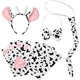dressforfun 302040 - Kostüm Set Kuh für Kinder, Haarreif mit Ohren und Hörnern, Handschuhe, Fliege und Schwanz