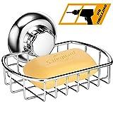 MaxHold système de vide Porte-savon à ventouse - adhérer, pas de perçage - acier inoxydable - pour salle de bains et cuisine
