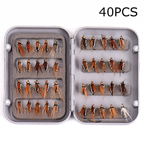 wildlead-40-pcs-box-fly-fishing-lure-set-artificial-insect-bait-trout-flying-hooks-tackle