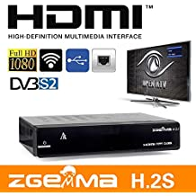 Zgemma H 2s H2s Dual Core Twin Tuner Satellite Receiver With Full 7day EPG and IPTV Function
