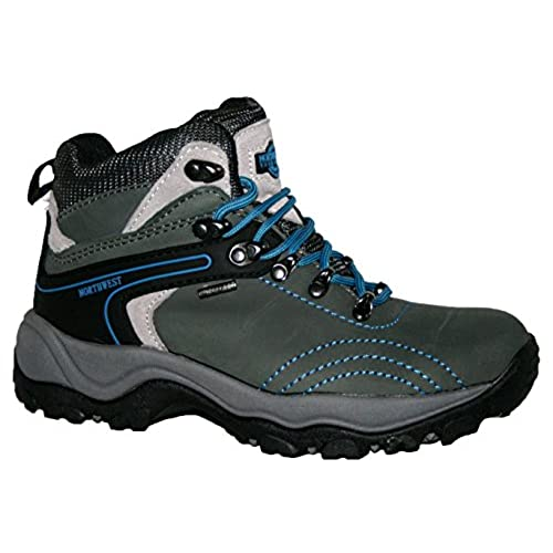 LADIES AVALON FULLY WATERPROOF LACE UP WALKING/HIKING TREKKING WINTER BOOT  GREY ELECTRIC BLUE 7. Northwest Territory