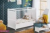Juub Babybett Kinderbett Gitterbett Beistellbett mit Matratze und Schublade Timmy 120x60