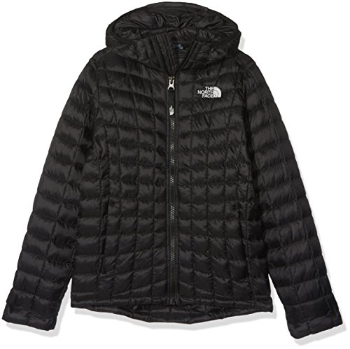The North Face Mädchen Thermoball Hoodie Youth, Tnf Black, L (Damen Winter Coat North Face)