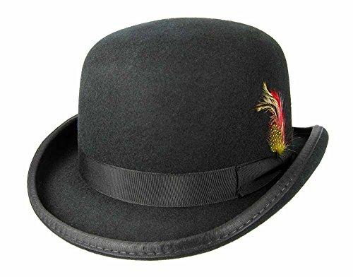 fourever Funky Herren, abgerundete Top Hat Feder Detail Gr. X-Large, Schwarz