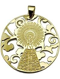 d16782c0a7c2 Medalla Virgen del Pilar en Plata de Ley Cubierta de Oro de 18kt