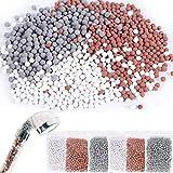 LISOPO 6 paquets Ions négatifs minérale Balles pour la pomme de douche Pierres minérales bioactives Remplacer Pierres de Filtration lon Pommeau de Douche