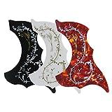 IKN 3 piezas de colibrí guitarra acústica Pickguard con patrón de flores autoadhesivo, color mezclado