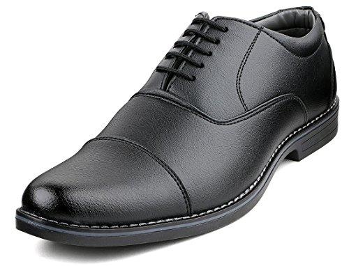 Escaro Men's Black Faux Leather Formal Shoes(10 Uk)