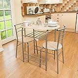 3-teilig Esszimmer-Set Frühstücksbar Küche Tischstühle Christow Möbel