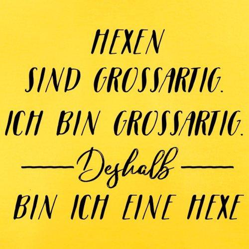 Ich Bin Grossartig - Hexe - Herren T-Shirt - 13 Farben Gelb