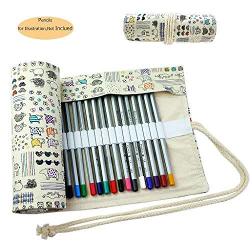 CROOGO Neuer Künstler Studenten Bleistifte Bleistift Kasten hält 72 Bleistifte Schöne Tiere...
