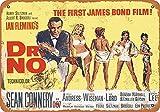 The First James Bond Film Métal Mur Affiche Vintage Plaque Étain Signe Rétro...