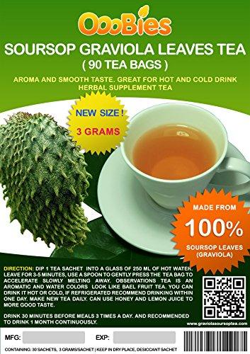 ooobies Stachelannone Graviola Tee Staubbeutel aus 100% Graviola Blätter Puder-90Teebeutel
