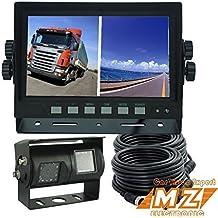 """Digital de 7""""Split quad Monitor Dual doble doble vista posterior de copia de seguridad inversa sistema de cámara de marcha atrás para camión, tractor, Equipos de la agricultura,"""