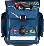 Stylex Schulstarter 3 teiliges Set bestehend aus Ranzen, Sportbeutel und Faulenzer, Design: Auto Geländewagen
