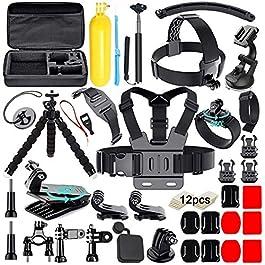 Soft Digits 50 in 1 Action Camera Accessori Kit per GoPro Hero 2018 Hero 7 6 5 4 3 Hero 5 Black, Hero Session YI Campark…