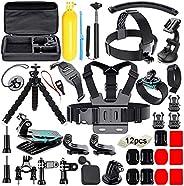 Soft Digits 50 in 1 Action Camera Accessori Kit per GoPro Hero 2018 Hero 7 6 5 4 3 Hero 5 Black, Hero Session