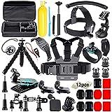 Soft Digits 50 in 1 Action Camera Accessori Kit per GoPro Hero 2018 Hero 7 6 5 4 3 Hero 5 Black, Hero Session YI Campark Akaso Crosstour Apeman Sony con custodia per il trasporto