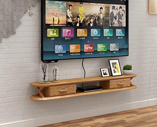Top-komponente Regal (XINGPING-Shelf Massivholz Nordic Hintergrund Wandbehang Kleine Wohnung Wohnzimmer Fernsehschrank Einfache Wandbehang Schlafzimmer Set-top Box Rack (Farbe : A, größe : 120cm))