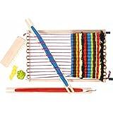 Webset Kinder Webrahmen Handarbeit Wolle weben Holzspielzeug Schulwebrahmen