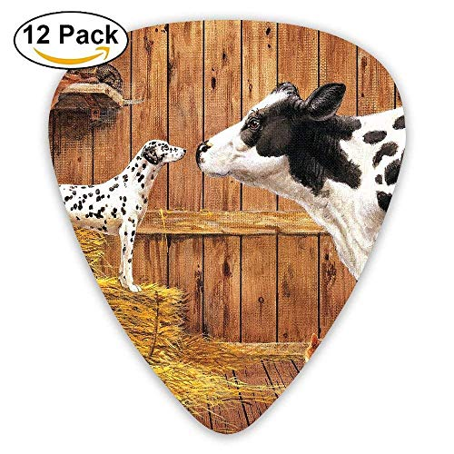 Hay Barn Dog Classic Guitar Pick (12 Pack) for Electric Guita Bass ()
