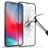 KKtick iPhone XS max Schutzfolie, Panzerglas iPhone XS max [Anti-Kratzen][Anti-Bläschen] Härtegrad 9H Hartglas Displayschutzfolie Gehärtetem Glas Schutzglas Für Apple iPhone XS max- Schwarz