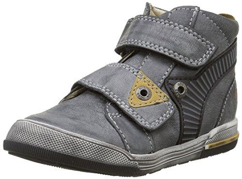 GBB Jungen Nathan Sneaker Gris (11 Vte Anthracite/Jaune Dpf/Manbo)
