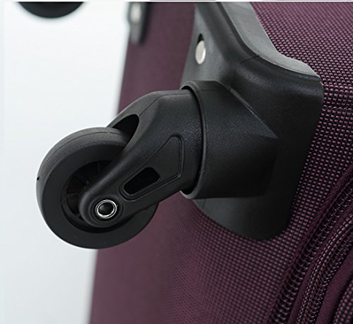 51LrvHUJI0L - Beibye 4ruedas maleta de viaje 8005plástico maletín equipaje Maleta Juego de L XL de m en 5colores (Lila, Juego)