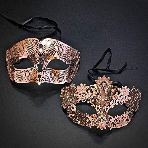 Hollow Maske Ichigo Kostüm - Zorux - Paar venezianisches Rotgold Metall