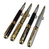 4 pièces dans la série Gullor 250 stylo plume en 4 couleurs avec pochette stylo original et 5 couleurs cartouche d'encre