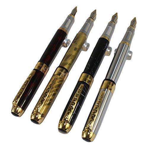 4 pc nella Gullor 250 Fontana Penna in 4 colori con la penna sacchetto originale e 5 colori delle cartucce d'inchiostro