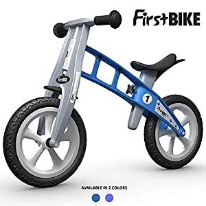 FIRSTBIKE - Bicicleta de Equilibrio sin Freno, Modelo básico, Color Azul (L1020PU)