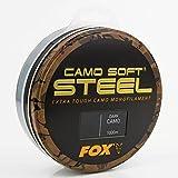 Fox Soft Steel Camo Karpfen Schnur 1000m, Farbe:Dark Camo;Durchmesser:0.35mm