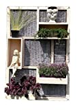 Zaun and More Sichtschutz Garten Trennwand Shabby Wall Small aus Weide und Holz 180 x 120 cm