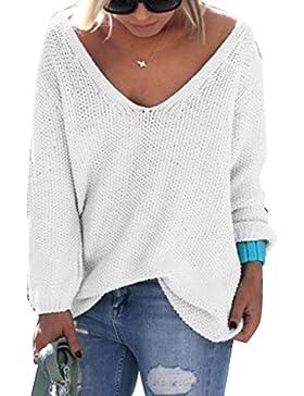 Ranboo Autunno Donne Knitt Maglioni V-Collo Maniche lunghe Streetwear Camicie top